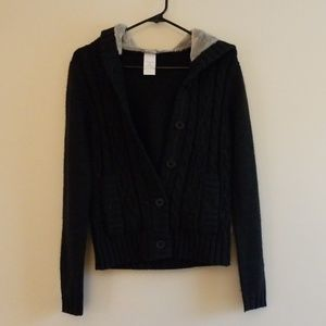 North Face black sweater jacket